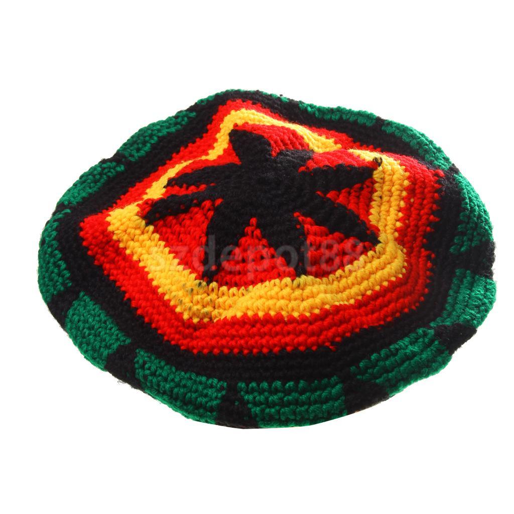 Renkli akrilik jamaika Rasta DreadLock kökleri Tam şapka Rasta bere kapaklar