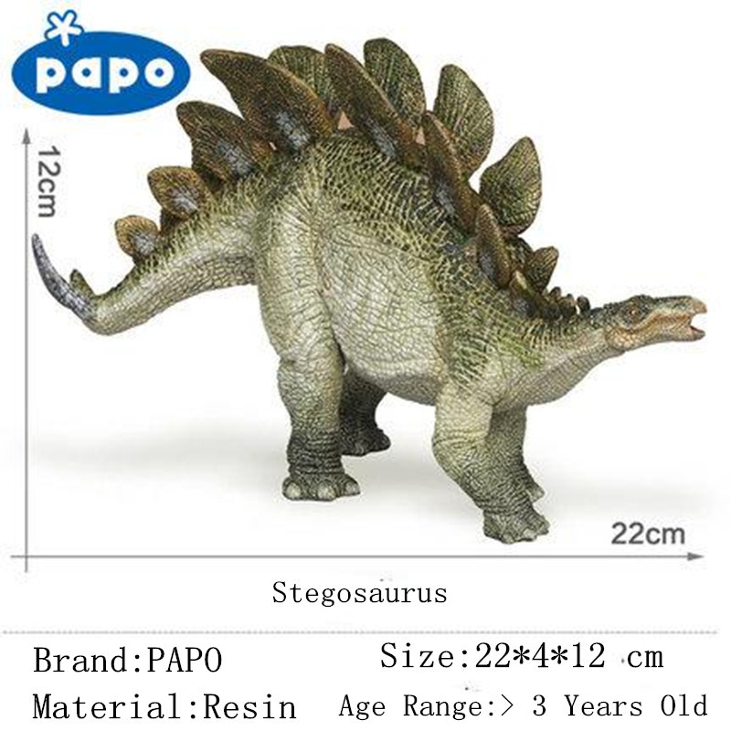 Simulation Brand Papo Stegosaurus Dinosaur Model Resin Children Action & Toy Figures Adult Decoration Best Collection Gift Sale brand papo animals decoration animal owl bird resin model puppets kids toy action figure doll adult children study safe toys
