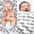 Letras de Algodão Cobertores Do Bebê Recém-nascido Berço macio Quente Bicicleta saco de Dormir Swaddle Receber Cobertores