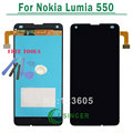 Para nokia lumia 550 pantalla lcd con pantalla táctil digitalizador asamblea reemplazo + herramientas de envío gratis