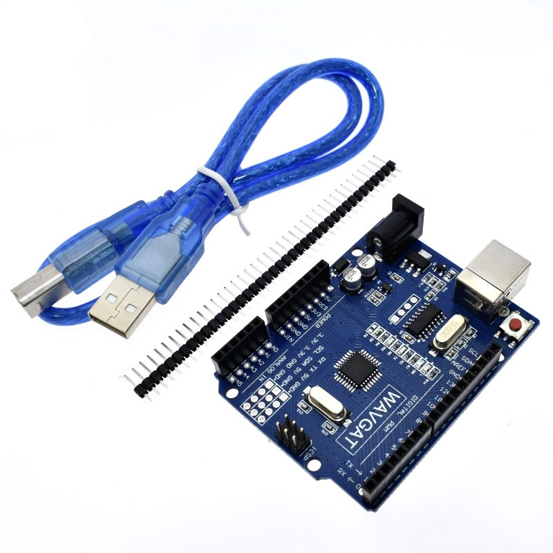 high quality One set UNO R3 (CH340G) MEGA328P for Arduino UNO R3 + USB CABLE ATMEGA328P-AU Development board atmega328p mcu development board compatible with uno r3 io expansion shield sensors pack uno plus package a