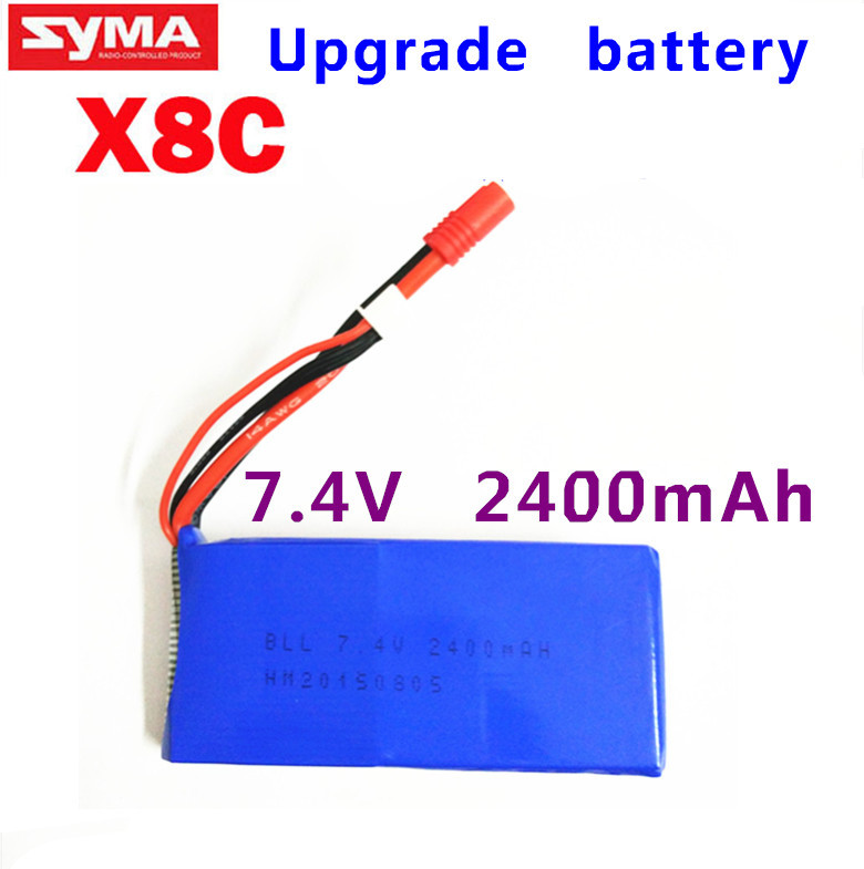 Wholesale rc helicopter parts Upgrade Syma X8 X8C X8W Spare Part 7.4V 2400Mah 25C Battery
