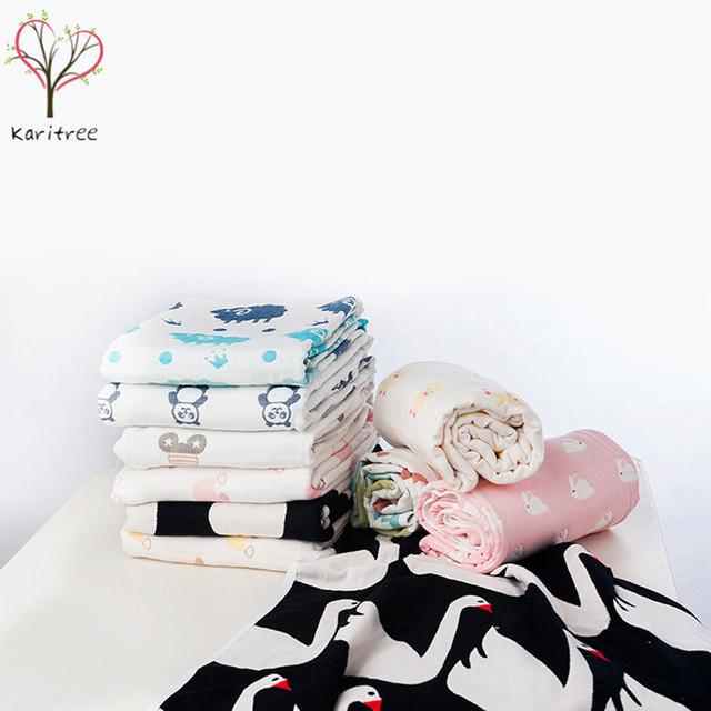 Bath towel infantil 6 capas de bebé swaddle muselina bebé manta de bebé