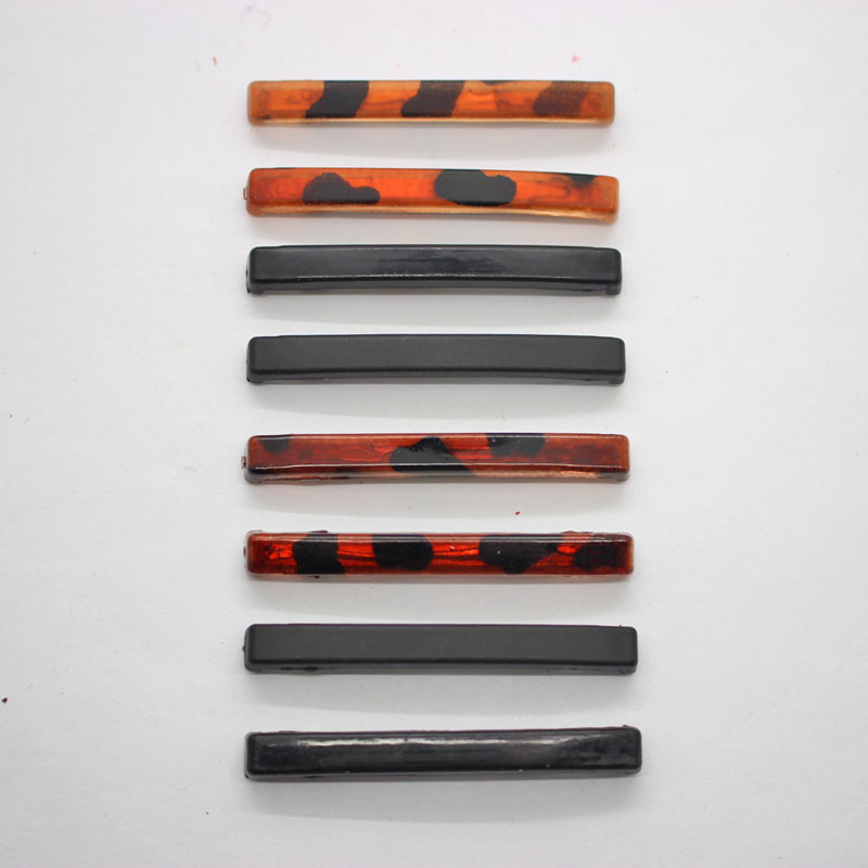 Wholesale 8Pcs/set sample hairpins Tortoise and black barrettes metal hair clips 5 cm headwear for women girls hair accessories