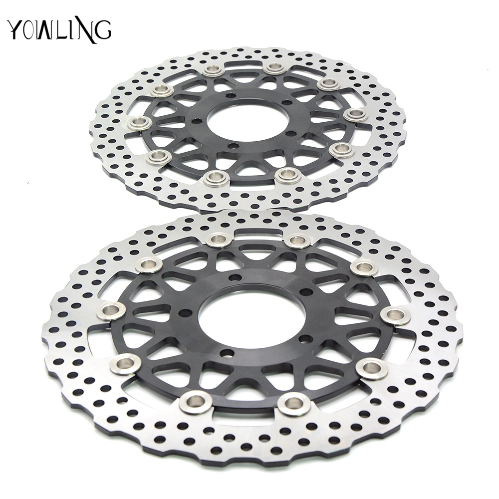 Motorcycle Aluminum alloy & Stainless steel outer ring Front Brake Disc Rotor For KAWASAKI ZX6R NINJA 636 2013-2014 wotefusi 1 piece motorcycle front brake rotor disc for kawasaki ninja 250 2013 2015 2014 [pa196]