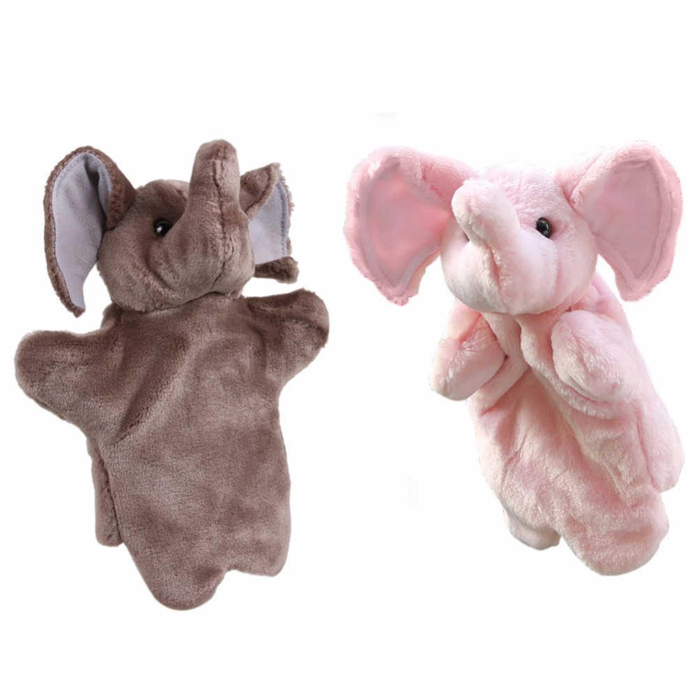 Cartoon Elephant Hand Puppet For Chrismas Gift Child Gift Soft Doll Plush Hand Puppets Toys Soft Plush Stuffed Interactive Toy