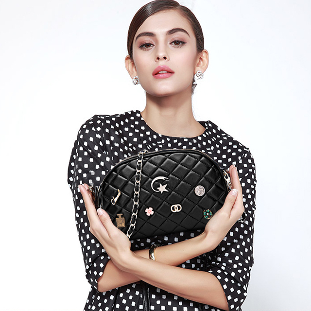 Scalloped ling madame chain bag sheepskin bag shoulder bag seal bag woman handbags