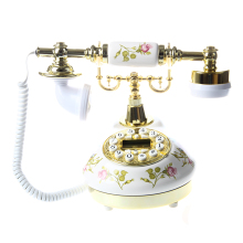 Горячая-антикварный дизайнерский телефон ностальгия телескоп винтажный телефон из керамической MS-9100