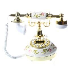Quente-antigo designer telefone nostalgia telescópio vintage telefone feito de cerâmica MS-9100