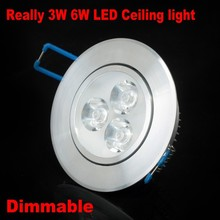 50PCS 3W 6W Ceiling downlight Epistar LED ceiling lamp Recessed Spot light 220V for home illumination Free shipping