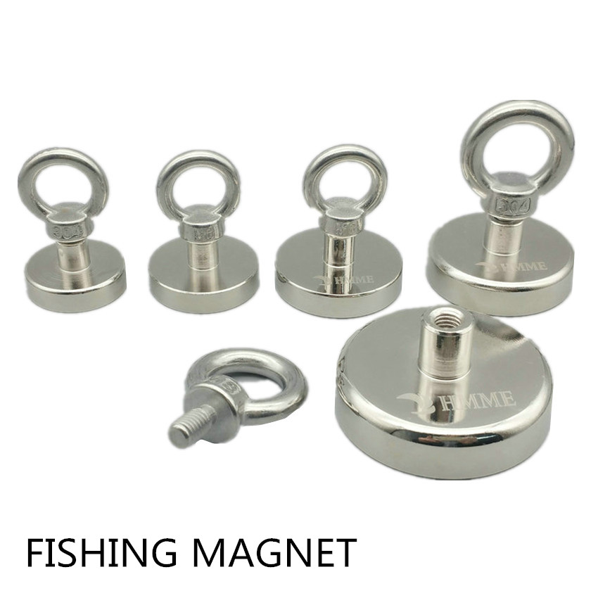 120KG Pulling Fishing Magnet Diameter 16-60 mm Lifting Magnet Lathed Clamping A3 Steel Cup NeodymiumDeep Sea Salvage Magnet 1 pack mounting magnet diameter 12 mm clamping pot magnet with steel hook neodymium lifting magnet strong magnet lathed cup