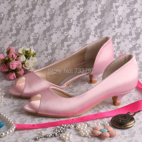 Wedopus MW772 Custom Handmade Ladies Pink Low Heel Weddings Shoes  Bridesmaid Pumps 3b0a95fb7a8b