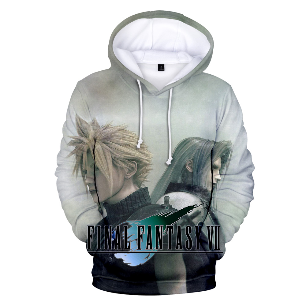 Men Hoodies Final Fantasy VII Sweatshirts Fans Pullover FF7 Game 3D Print Hoodie Men's Cool personality Streetwear Student Top