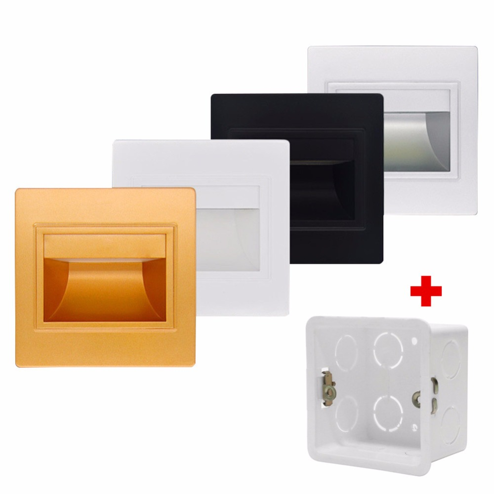 10pcs/lot Recessed LED Stair Light New Sconce Lamps Modern Wall ... for Wall Foot Light  104xkb