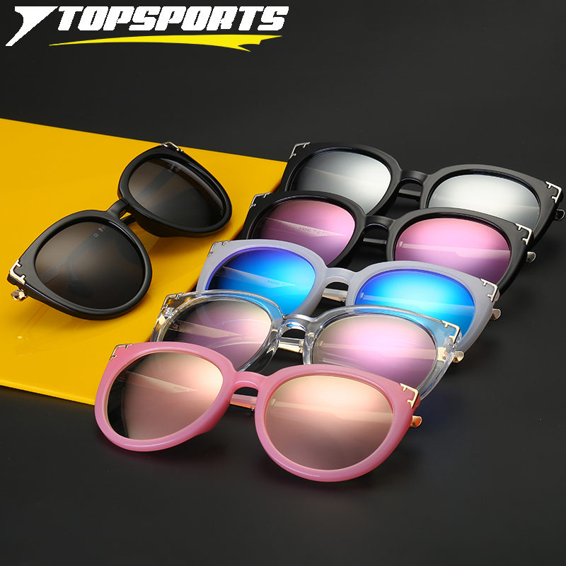 TOPSPORTS Polarized Outdoor Sunglasses for Fishing Driving Women Metal PC Frame UV400 TAC Reflective plating Lens Sun Glasses