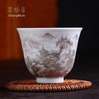 Changwuju в Цзиндэчжэнь ручной работы famillie Роза кунг фу одной чайная чашка написаны jinhongxia