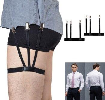 1 par camisa queda ligas soporte ajustable camisa soportes de resistencia  cinturón camisa tirantes para hombres de abrazaderas  0921 2f78789b767ca