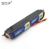 ZDF RC Lipo 6S Battery 22.2V 10000mAh (2x 3S 11.1v 5000mAh) 35C Burst 70C For Helicopter RC Drone Quadcopter Rated 5.0 /5