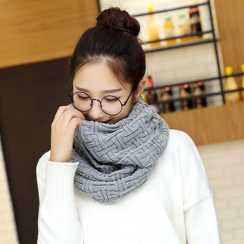 0c4770ca SUMEIKE moda nuevo punto imitación Cachemira bufanda anillo para las  mujeres acrílico suave ...