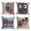 Fashion Cotton Linen Cushion Cover Cartoon Print Cushion Sofa Car Decorative Pillow Case Decorative Pillow Cushion Mat 50*50cm