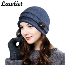 Lawliet Winter Hats for Women Beanies Warm Wool Knitted Hat Ladies Crochet Skullies Beanies Girl Gorro Ski Cap Femme Bonnet
