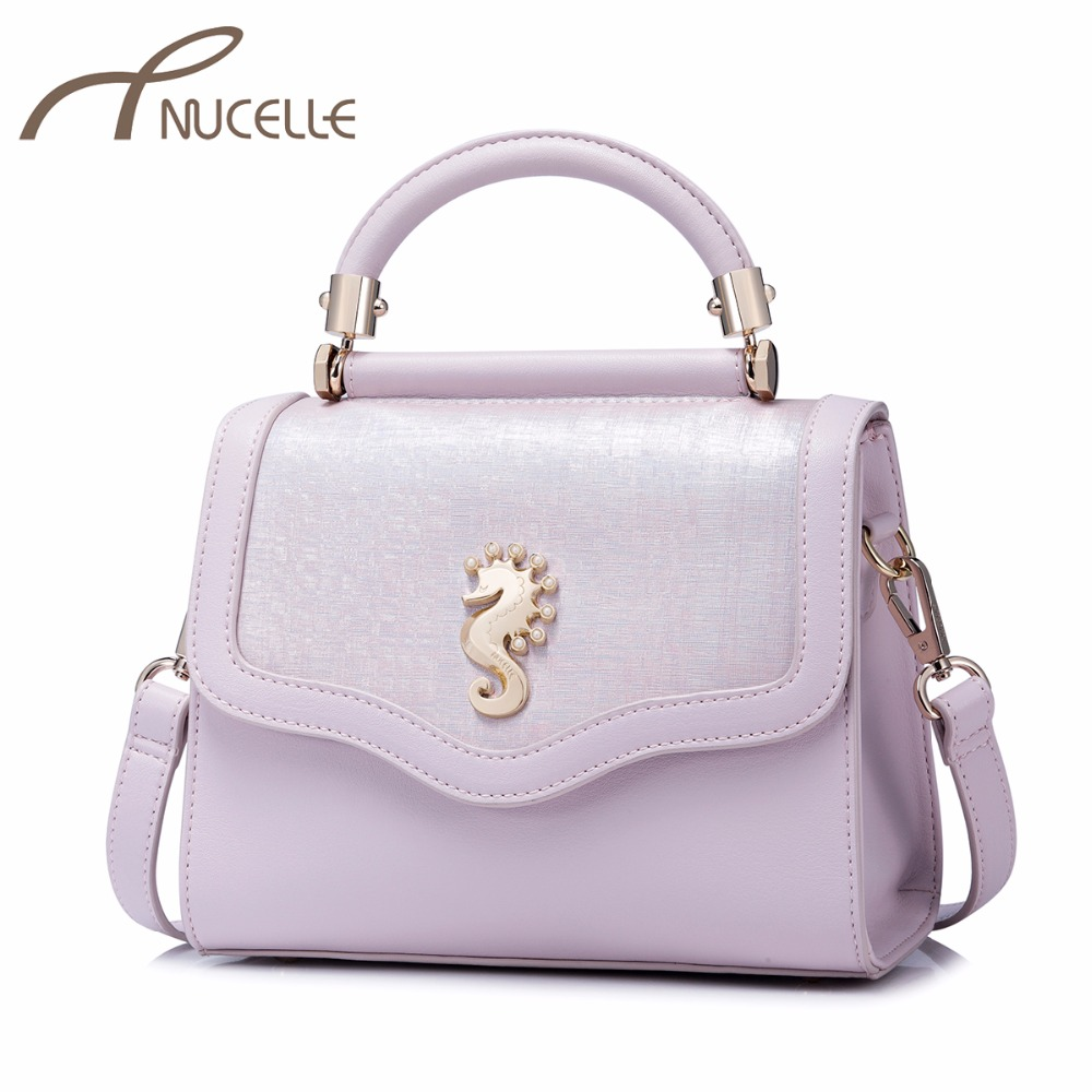 NUCELLE High Quality Ladies Fashion Seahorse Messenger Tote Purse Female Brief Leisure Bags NZ4132 Women's PU Leather Handbags eric carle mister seahorse