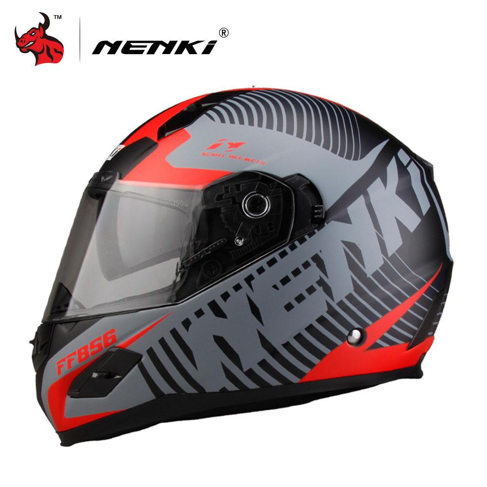 цена на NENKI Motorcycle Helmets Motocross Racing Helmet Motorbike Full Face Helmet Capacete De Moto For Men And Women