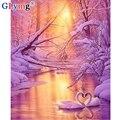 GLymg 5d Diy Алмазная картина полная дрель вышивка крестом снег Алмазная вышивка Лебедь квадратная Мозаика из страз подарок домашний декор