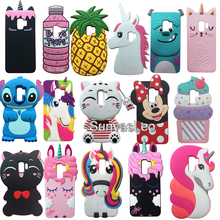 S9 Plus Pink ice Cream Cat Cell phone Cases 3D Cartoon Shockproof Soft Silicone Phone Cover Case For Samsung GALAXY S9+