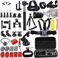 Dsdaction gopro acessórios set go pro kit de montagem do tripé para sjcam sj4000 h9 hero 5 4 3 câmera caso xiaomi yi eken peito 12g