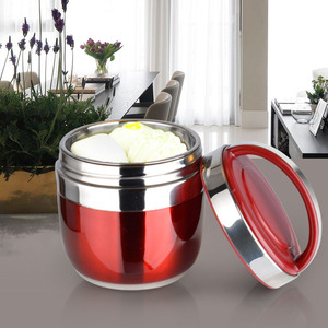 1.2/1.5L Double Wall Thermal Stainless Steel Lunch Box Creative Handled Pot Japanese Bento Box Food Container for Picnic