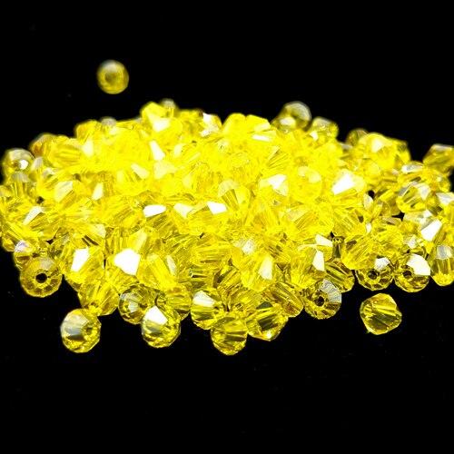 Новинка 5301 4 мм 1000 шт стеклянные кристаллы бусины биконус граненый свободный разделитель бисер бусины Fantas AB DIY Изготовление ювелирных изделий U выбор цвета - Цвет: 221