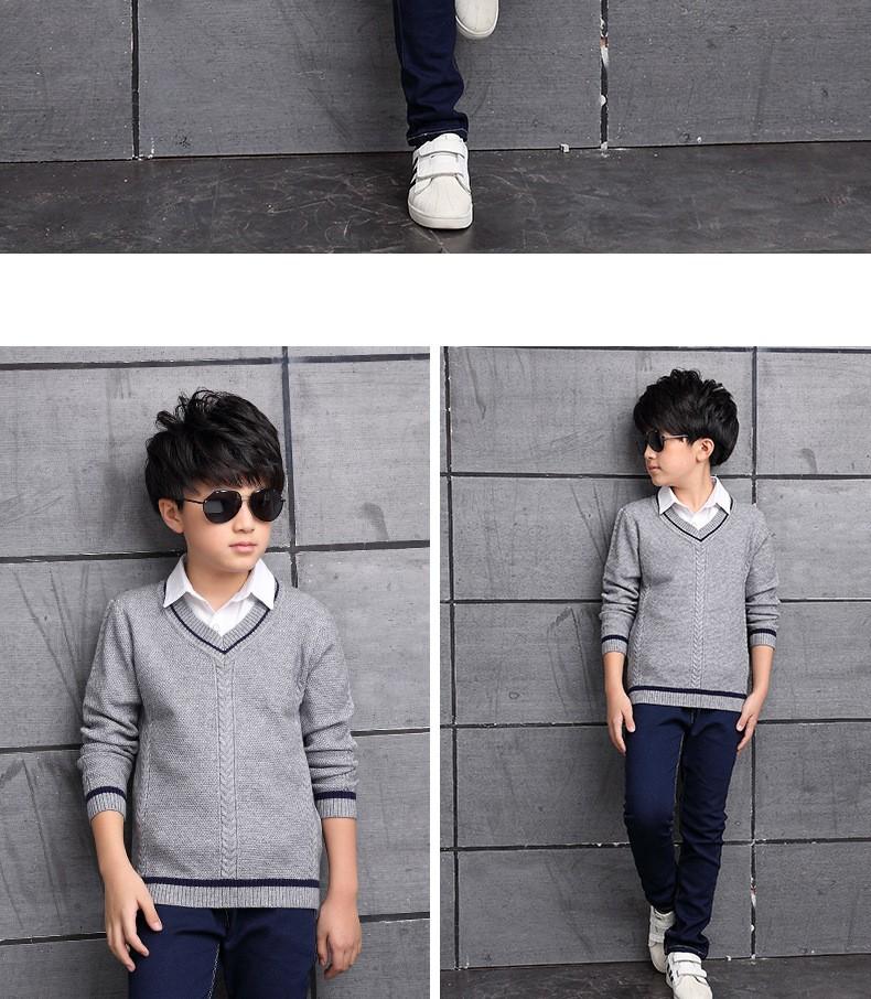 HTB1nbzEOXXXXXb5XVXXq6xXFXXXn - 2017 Children's sweater Winter new  Keep warm Cashmere boy sweater V-collar Kids for boys Children's clothing Winter clothing
