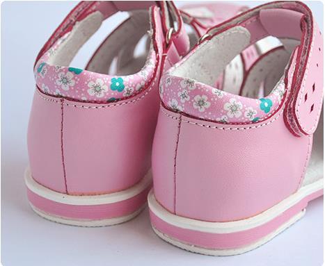 fba01fd62 cute flower 1 pair Rhinestone Genuine Leather Orthopedic Children ...