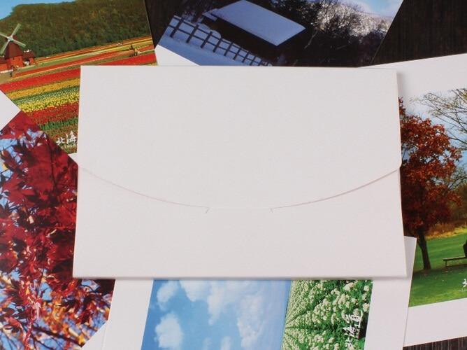 Купить с кэшбэком 50pcs/lot 3 Colors Vintage Blank Kraft Paper DIY Multifunction Envelope postcard box Package paper wholesale