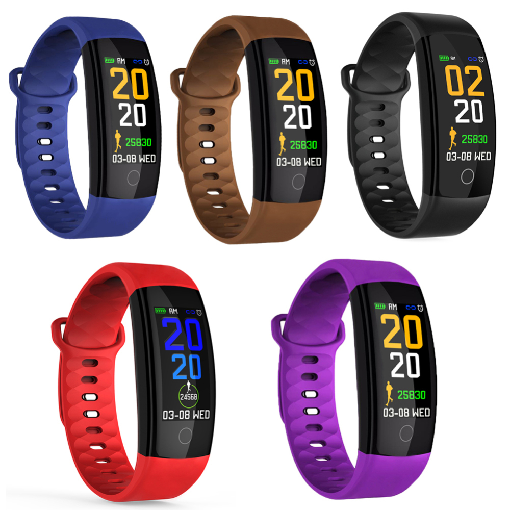 New Men Women Color screen IP67 Waterproof blood pressure Monitor sports Heart Rate Smart Band Fashion Smart Fitness Bracelet in Smart Wristbands from Consumer Electronics