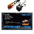 "Free Rear Camera Car 2DIN 7"" Universal Car Stereo MP4 Player 12V Car MP5 Audio Bluetooth/hands free/USB/Remote Control CW9301"
