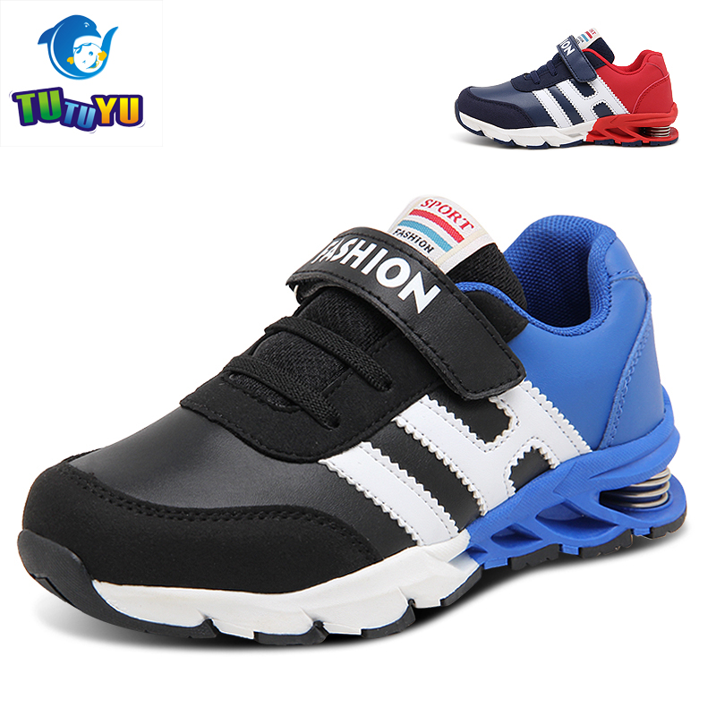 New Design Children Sports Shoes Boys Girls Spring Damping Outsole Slip Patchwork Breathable Kids Sneakers Child Running Shoes 2017 new fashion kids leather sport shoes teenager breathable sneakers children shoes for girls boys non slip kids running shoes