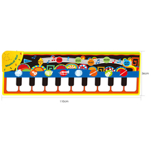 1 Pcs 36X110Cm Baby Piano Mats Music Carpets Children Press Play Game Musical Musical Instrument Sound Blanket Rug Toys Gift