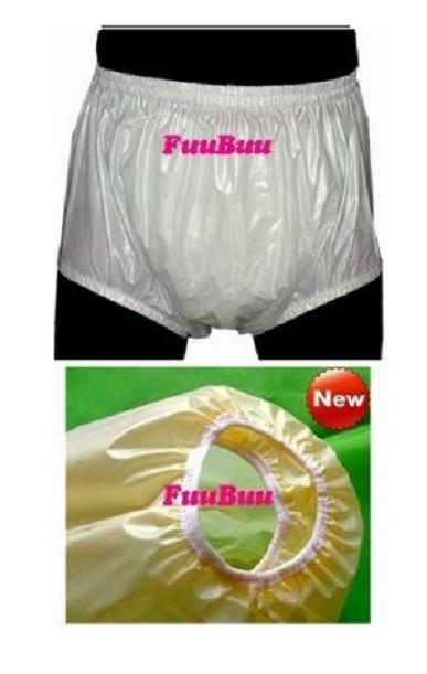 Free Shipping FUUBUU2217-White-S-1PCS Safety trousers / pants / anti side leakage physiological incontinence pants / old diaper