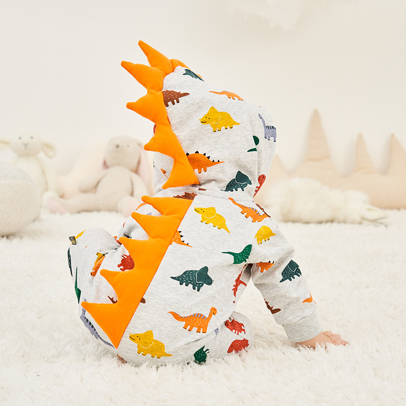 Cosplay dinosaur Kigurumi baby Kids Cartoon Animal Costume Warm Soft Flannel Fancy Onesie Cute Pajama Body Suit Cotton Jumpsuits