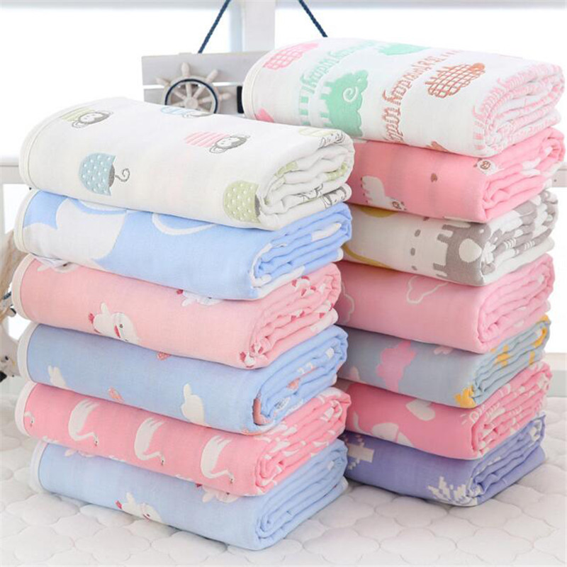 Muslin Baby Blanket Swaddle Cotton Bedding Blankets for Newborn Baby Bath Towel