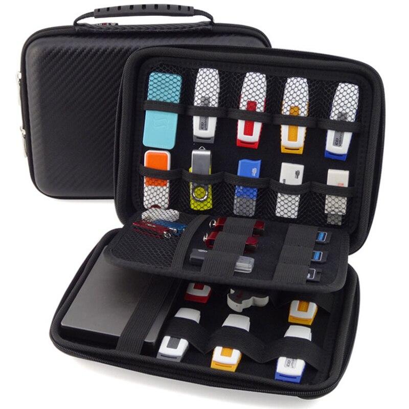 big promotion original 3 layers portable carry cable organizer mobile hdd bag case usb flash. Black Bedroom Furniture Sets. Home Design Ideas