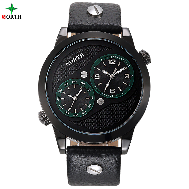 Men Sport Watches 30M Waterproof Double Movement Quartz-Watch Casual Male Business Clock NORTH Fashion Analog Quartz Watch Men