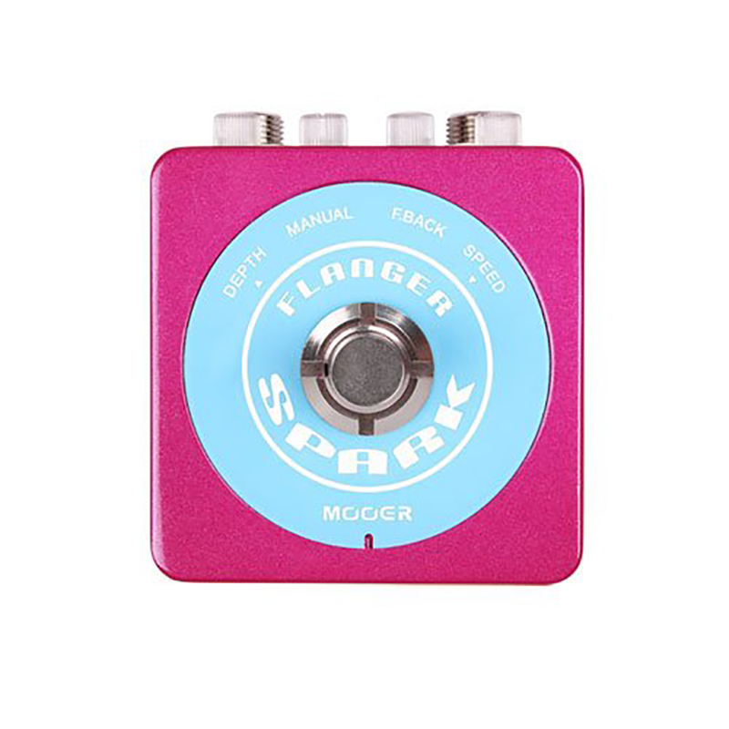 Mooer Widely adjustable Inspirational Flanger Sounds Effect Pedal Spark Series True Bypass Design mooer ensemble queen bass chorus effect pedal mini guitar effects true bypass with free connector and footswitch topper