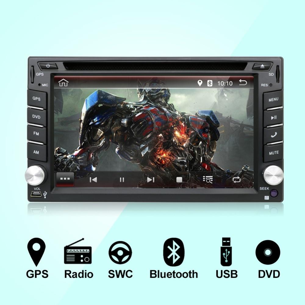 In Dash Android 7.1 CPU Doppio 2 Din autoradio GPS Navi Lettore DVD Stereo Headunit Video BT PC per auto CD wiFi 3g auto di parcheggio