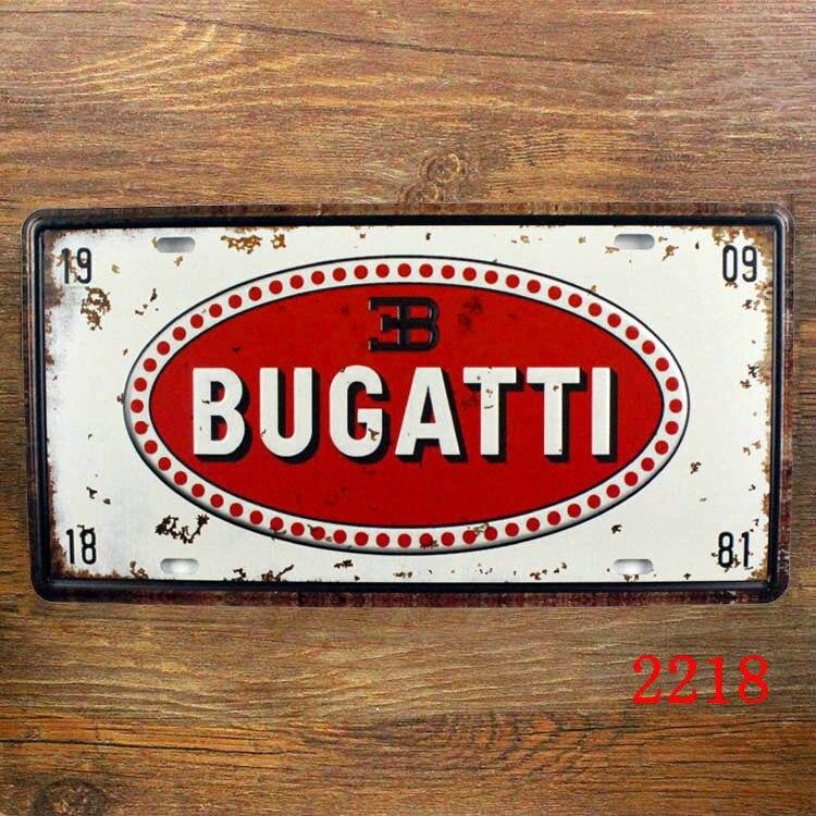 Clic Car License Plate Vintage Tin Sign Bar Pub Home Kitchen Wall Decor Retro Metal Art