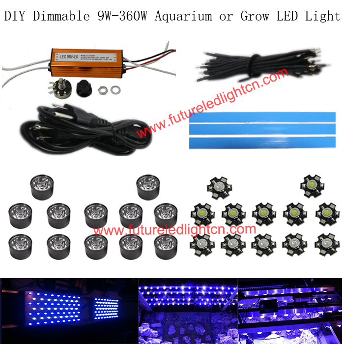 1 Lot 42w Dimmable Diy Led Aquarium Light For Coral Reef
