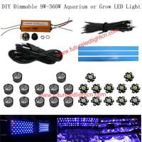 1 lote 42 w dimmable diy led luz del acuario para los arrecifes de coral del acuario del led luminaria, coste de envío gratis