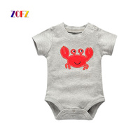 ZOFZ New Baby Boy Clothes Short Sleeve Bodysuit Leisure Baby Clothes Cotton Overalls Soft Swimsuit Character